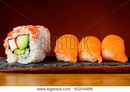 Rolls And Nigiri Sushi