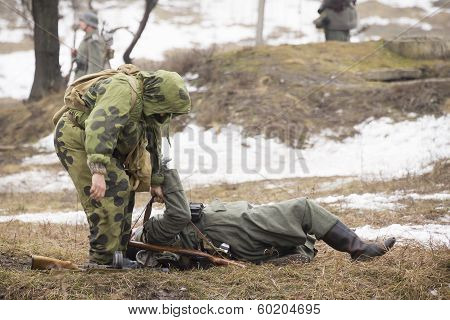 Russian Spy Fights German Soldier