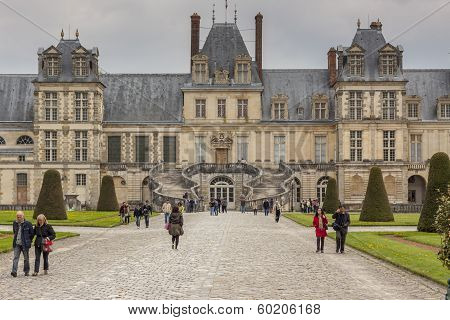 Royal Hunting Castle  In Fontainebleau, France.