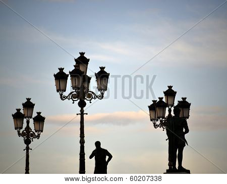 statues on sunset