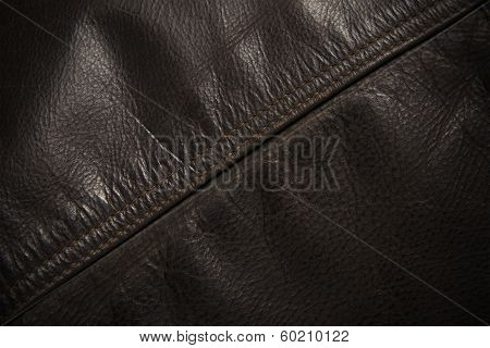Seam Line On Leather Jacket, Detail