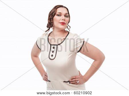 Beautiful Plus Size Woman Posing