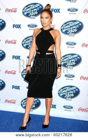 LOS ANGELES - FEB 20:  Jennifer Lopez at the American Idol 13 Finalists Party at Fig & Olive on February 20, 2014 in West Hollywood, CA