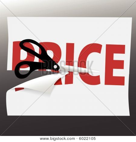 Scissors Cut Price Symbol On Sale Ad Page