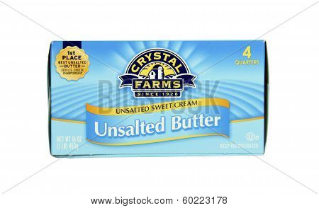 Box Of Crystal Farms Unsalted Butter