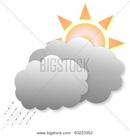 Rain and sun weather icon