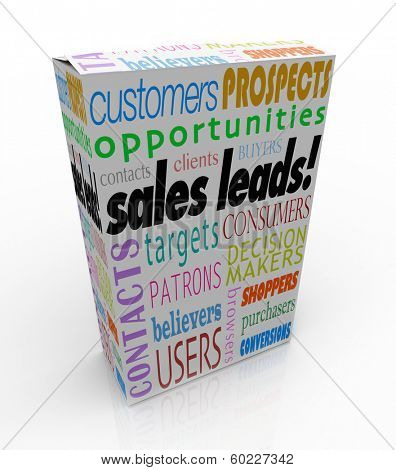 Sales Leads Product Box Package New Business Customer Opportunity