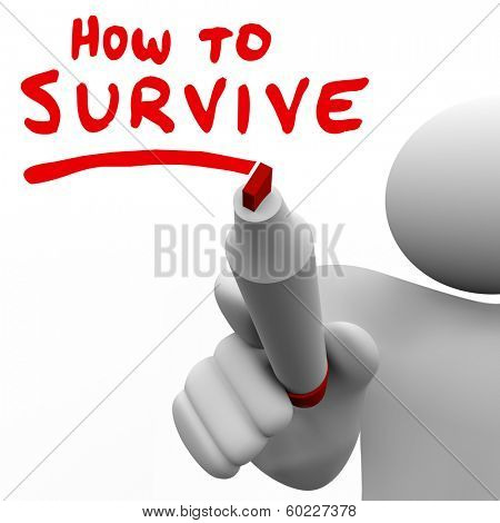 How to Survive Words Advice Instructions Survival Tips
