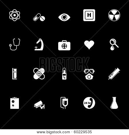 General Hospital Icons With Reflect On Black Background