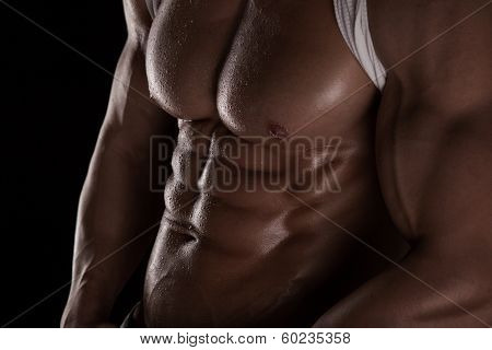 Strong Athletic Man Abs