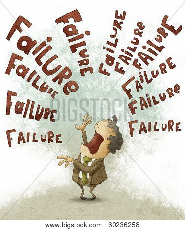 Failure concept Businessman