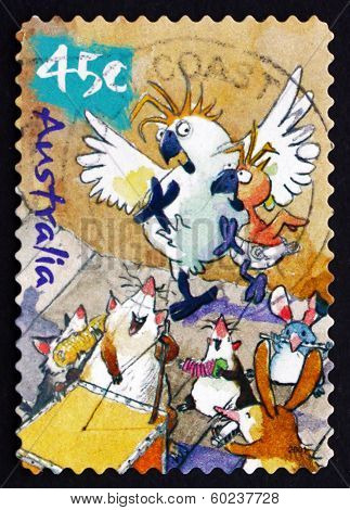 Postage Stamp Australia 2001 Caricature Of Australian Wildlife