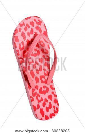 Beach flip flops - Pink leopard
