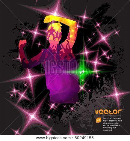 Discotheque poster. Vector