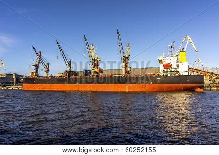 Cargo Ship Unloading