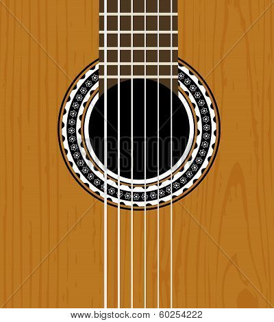 vector guitar sound hole