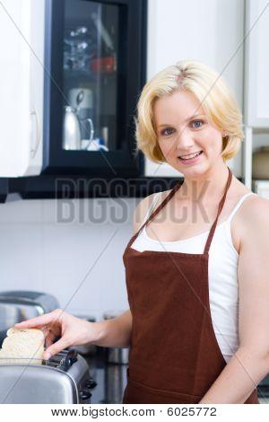 housewife cooking breakfast