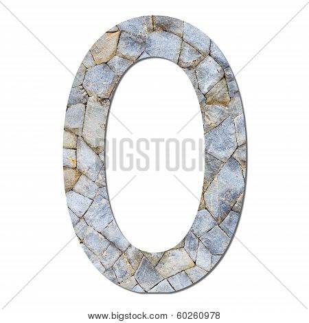 Font Stone Wall Texture Numeric 0