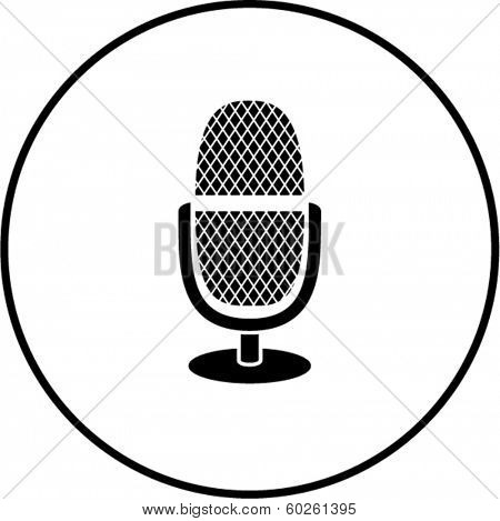microphone with base symbol