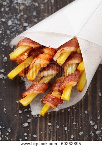 Bacon wrapped french fries