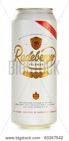 Can Of Radeberger Isolated On White