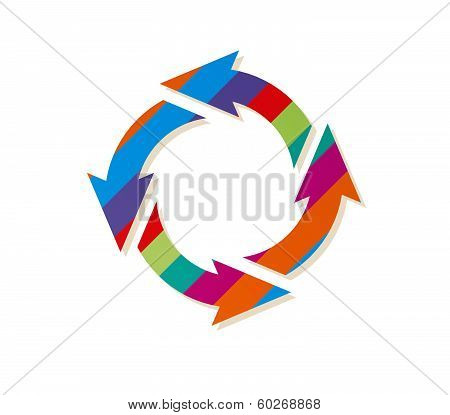 Striped Circle Arrows