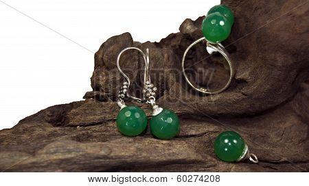 green color jewel set