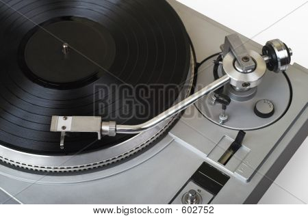 Stylish Turntable With Disk (clipping Path - Yes)
