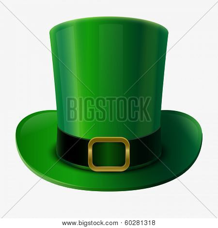 St Patrick's Day element. Green leprechaun hat vector illustration