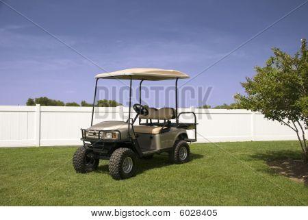 Silver Golf Cart