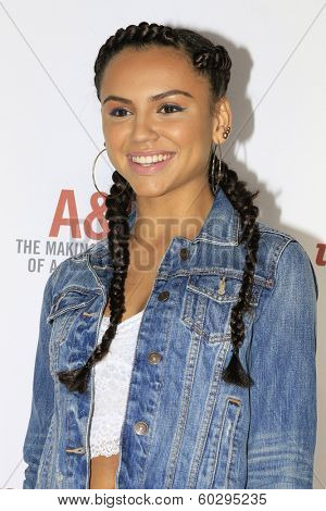 LOS ANGELES - FEB 22: Jazzlyn Marae at the Abercrombie & Fitch 'The Making of a Star' Spring Campaign Party on February 22, 2014 in Los Angeles, CA