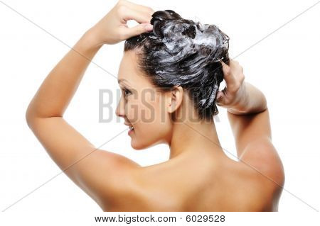 Adult Woman Washing Head