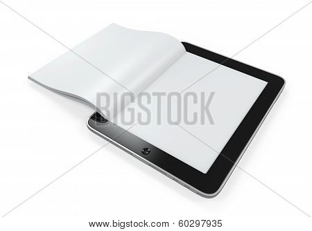 Book from Tablet Computer