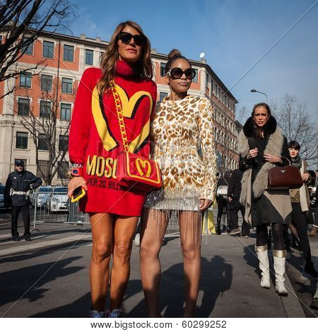People Outside Armani Fashion Shows Building For Milan Women's Fashion Week 2014