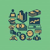 picture of paycheck  - Money icons - JPG