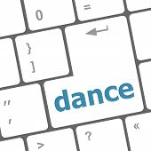 picture of backspace  - dance button on computer pc keyboard key - JPG
