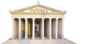 picture of artemis  - Miniature Model of Temple Artemis by white background - JPG