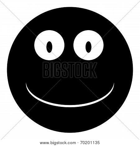 Smile Face Circle Icon