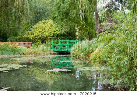 Monet's Garden And Pond