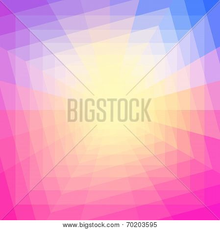 Abstract Colorful Geometric Tunnel Background.