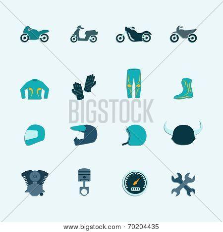 Biker icon set
