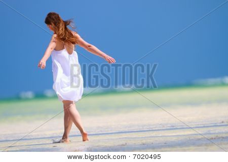 Girl On Vacation
