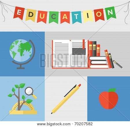 Education Flat Illustration Concept