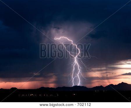 Roskruge Sunset Lightning 2