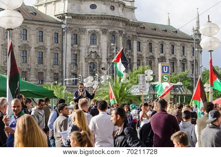 Anti-war Rally In Support Of The Palestinian People