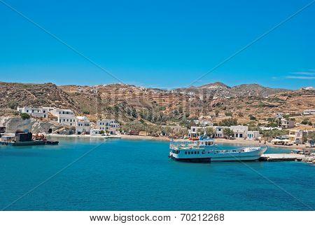 Panoramic View Of Traditional Village On Kimolos Island, Greece