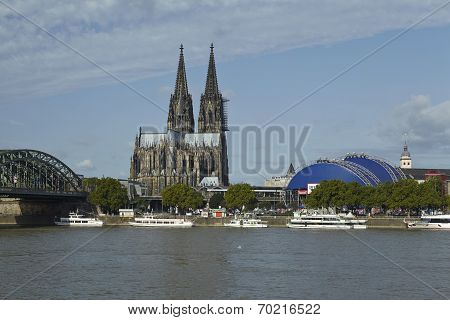 Cologne - Skyline With Cologne Cathedral
