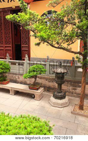 Yard in Jade Buddha Temple, Shanghai, China
