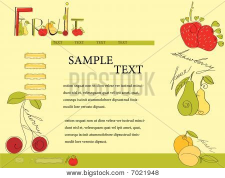 Website template with fruit