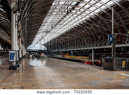 Platform At Paddington Station, London